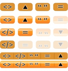 Button set vector