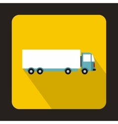 Cargo delivery truck icon flat style vector image