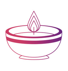 Ceremonial candle isolated icon vector