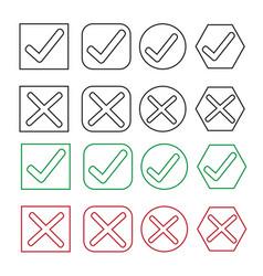 Check box icon set vector