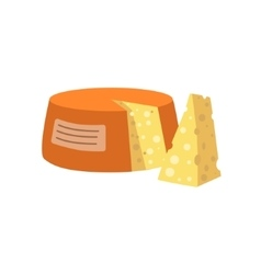 Cheese Bright Color Isolated vector