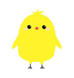 Chicken bird happy easter cute cartoon funny vector