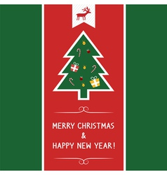 Christmas greeting card69 vector image