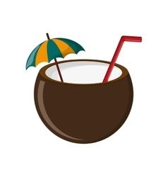 coconut cocktail icon vector image