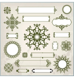 collection of ornaments and page decoration vector image