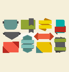 colorful signs and badges icon vector image