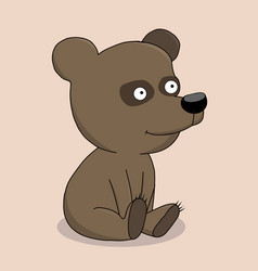 cute baby bear cartoon vector image