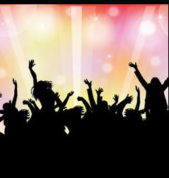 dancing background vector image