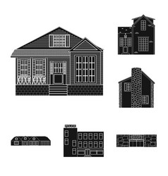 Design of building and front logo vector