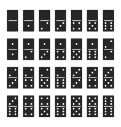 Dominos bones set 28 pieces for game - isolated vector