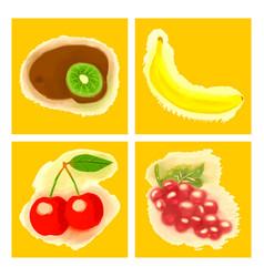 Eco food menu background watercolor hand drawn vector