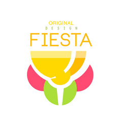 Fiesta logo design colorful label for a holiday vector