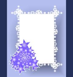 frame christmas tree vector image