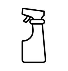 gardening spray line style icon vector image