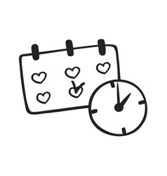 hand drawn icon of schedule vector image