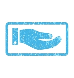 Hand Icon Rubber Stamp vector
