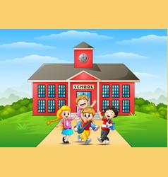 happy childrens cartoon in vector image