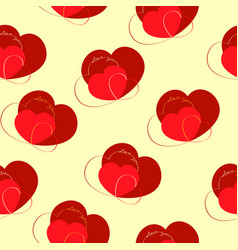 hearts with the words love you seamless pattern vector image