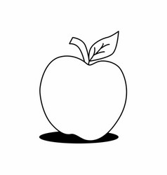 isolated apple vector image