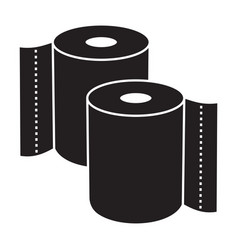 Kitchen tissue toilet tissue paper roll flat vector