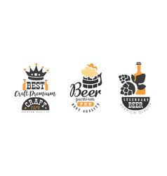 legendary beer premium pub logo templates design vector image