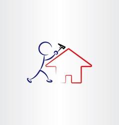 man repair house vector image