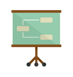 management banner icon flat style vector image