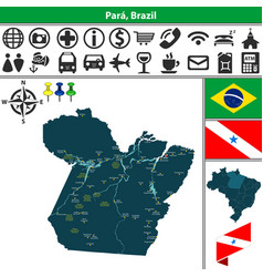 Map of para brazil vector