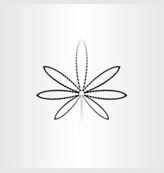 marijuana black icon line symbol vector image