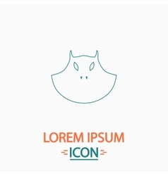 mask computer symbol vector image