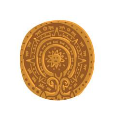 mayan calendar maya civilization symbol american vector image