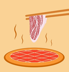 Meat grill vector