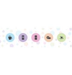Mocha icons vector