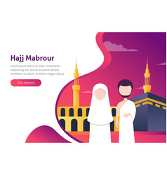 Modern flat design concept of hajj and umrah vector