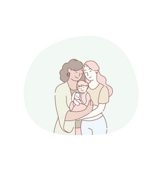 motherhood women generations in family concept vector image