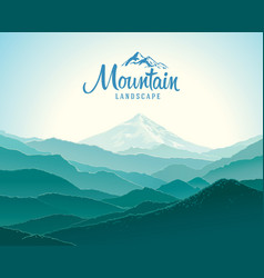 mountain landscape silhouettes the vector image