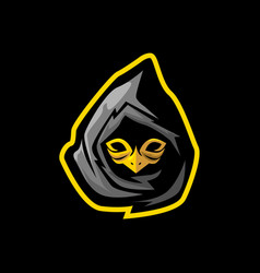 ninja with bird mask gaming mascot or esports logo vector image
