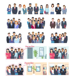 Office employees big collection vector