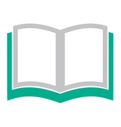 open book icon education book isolated - school vector image