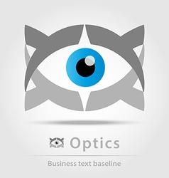 Optics business icon vector image