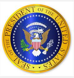Presedent seal depiction vector