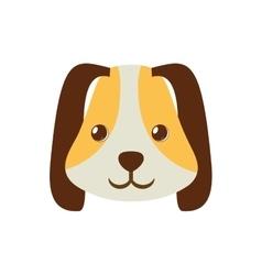 puppy face ear long brown pet vector image