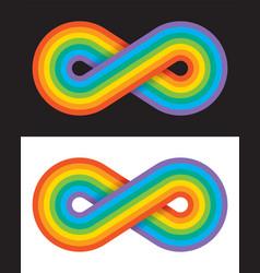 Rainbow coloured infinity symbol vector