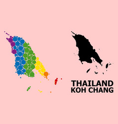 Rainbow pattern map koh chang for lgbt vector