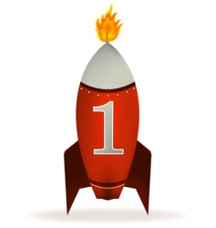 rocket candle vector image