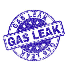 scratched textured gas leak stamp seal vector image
