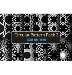 Set of round and circular decorative patterns vector image