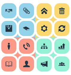 Set simple people icons vector