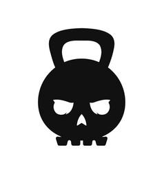 skull weight kettlebell modern style vector image vector image