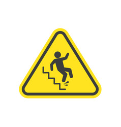Slippery stairs warning vector